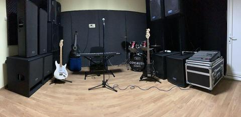 Inchirieri sala de repetiție Studio Audio